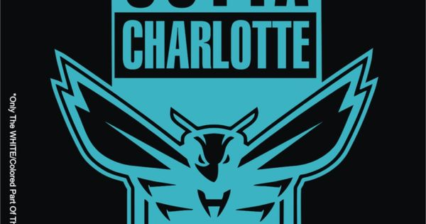 Straight Outta Charlotte Hornets NBA Basketball Logo Decal