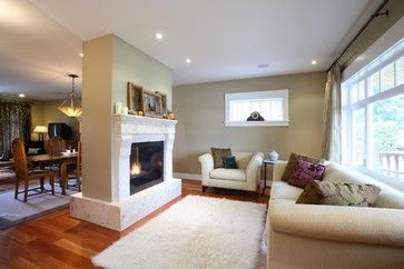 Fireplace In Middle Room Design Ideas Pictures Remodel And Decor Home Fireplace Fireplace Remodel Cottage Living Rooms