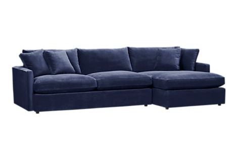 Navy Sofa In Kid Friendly Fabric Cool Ideas Pinterest