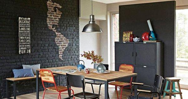 table 4 couverts en noyer massif about et acier hiba la redoute interieurs arq pinterest. Black Bedroom Furniture Sets. Home Design Ideas