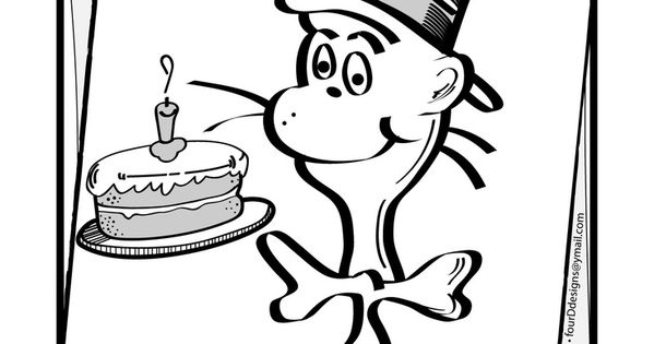 Happy Birthday Dr. Seuss Coloring Pages Enjoy Coloring