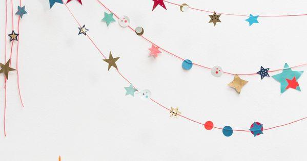 10 DIY Garlands  벽 꾸미기, 크리스마스 및 공예