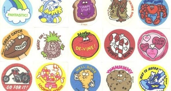 The joy of getting a scratch 'n' sniff sticker for answering a