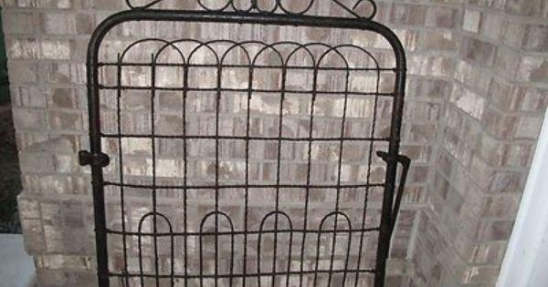 Antique Wrought Cast Iron Garden Gate Fence Architectural Salvage Ebay Iron Garden Gates Garden Gates Old Garden Gates