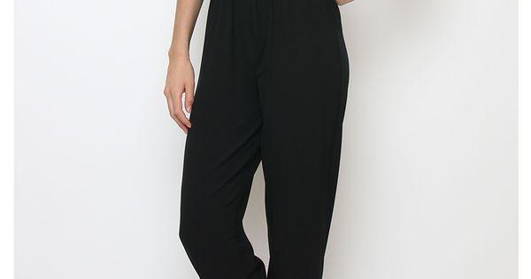 combi pantalon chic femme noir http milena pantalons jupes et combinaisons. Black Bedroom Furniture Sets. Home Design Ideas