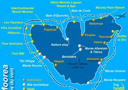 Moorea Tahiti Cliquez Sur Les Iles Pour Plus D Informations