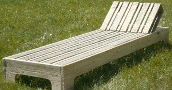 Loisirs cr atifs fabriquer une chaise longue en palette for Chaise longue jardin palette