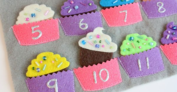 counting cupcakes. super cute activity book