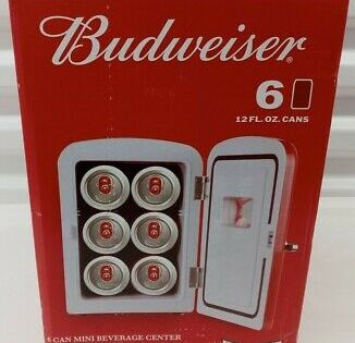 Sponsored Link Budweiser 6 Can 10 Mini Fridge Refrigerator 120v And 12v Car Adapter In 2020 Mini Fridge Refrigerator Fridge Budweiser
