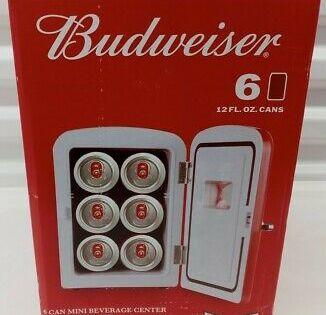 Sponsored Link Budweiser 6 Can 10 Mini Fridge Refrigerator 120v And 12v Car Adapter In 2020 Mini Fridge Refrigerator Fridge Budweiser