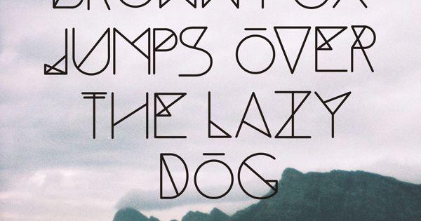 cool geometric thin font