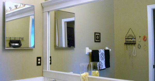 Bathroom Mirror Framed With Crown Molding Frame Bathroom Mirrors And Bathroom Mirrors