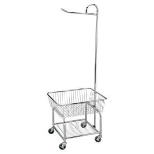 Laundry Butler Chrome 6028 The Home Depot Laundry Cart