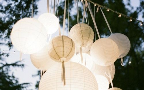 paper lanterns for outdoor wedding ceremonies/receptions