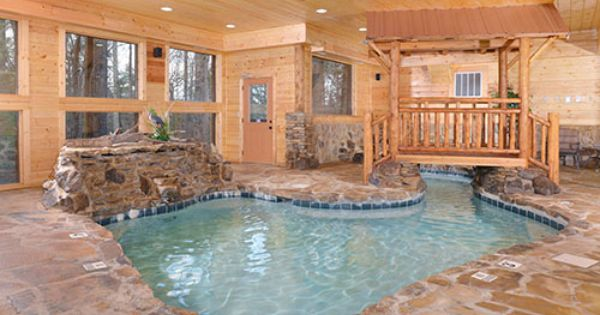 Copper River Pigeon Forge Tn Indoor Heated Pool Two Waterfalls