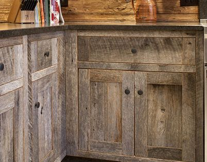 barn wood cabinets backsplash love the rustic look diy