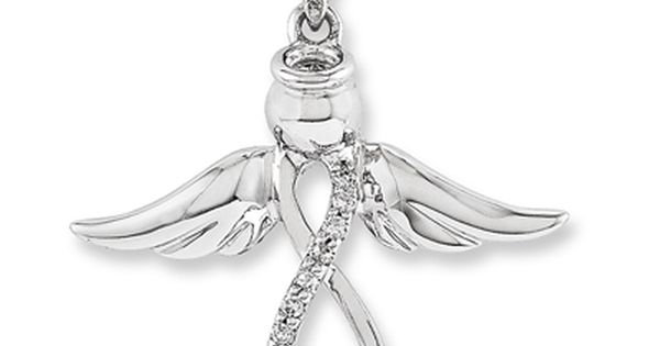Diamond Accent Infinity Angel Slide In 14k White Gold