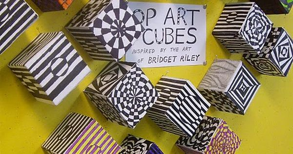 op art cubes...all my art ed friends, you have convinced me to