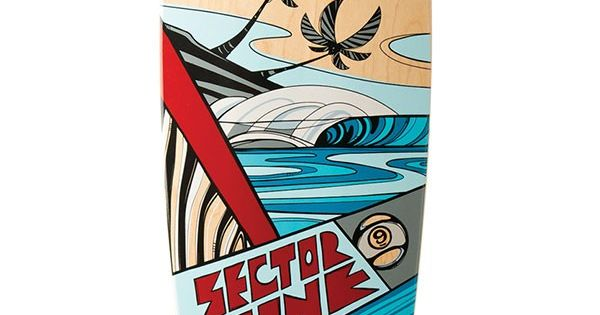 Sector 9 Island Time Longboard Skateboard Complete Red