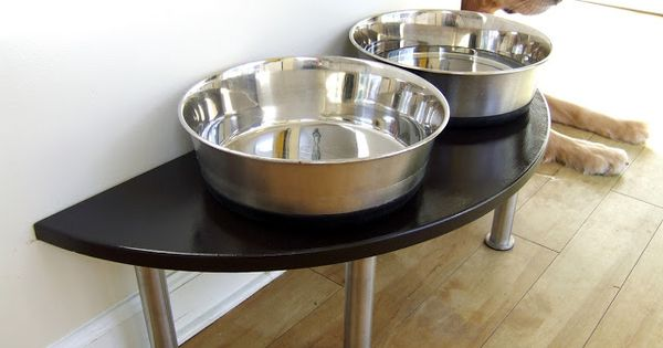 Dog dish riser welcome home pinterest desk riser for Table risers ikea
