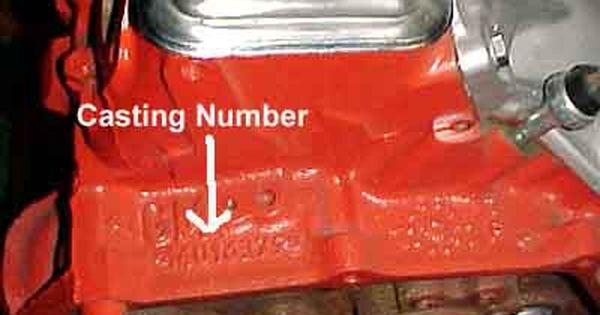 Sbc Casting Numbers Block - 0425