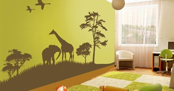 nursery ideas - safari love the wall decals