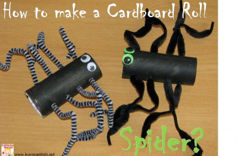 How to make a Cardboard Roll Spider? Great craft activity for halloween
