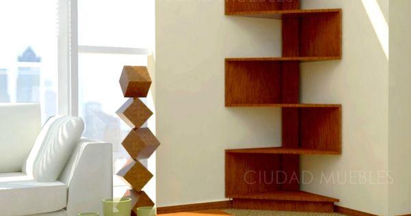 Modular rack esquinero moderno dise o minimalista - Estanteria de esquina ...