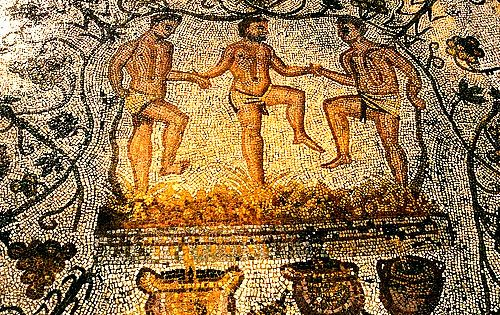 Ancient greek murals depicting dyonisus god of wine old for Ancient greek mural