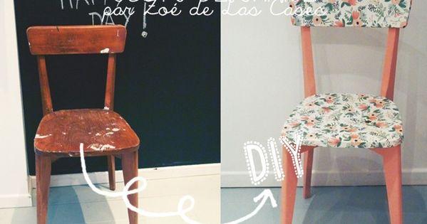 Chez zo nous avons particuli rement t sous le charme de ses chaises d co - Repeindre une chaise ...