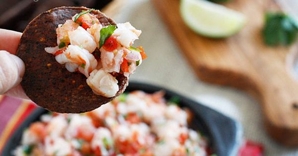 SKINNY SHRIMP SALSA RECIPES - SHRIMP, TOMATOES, CILANTRO, RED ONION AND LIME
