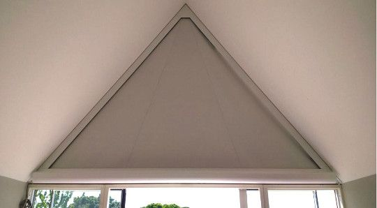 Curtains For Triangular Windows Astound Roller Blinds Triangle