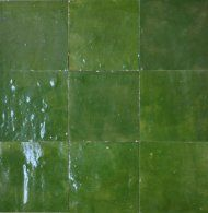 Vert Imperial N 23 Carreaux Ciment Zellige Zellige Marocain