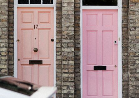 peach + pink door colors