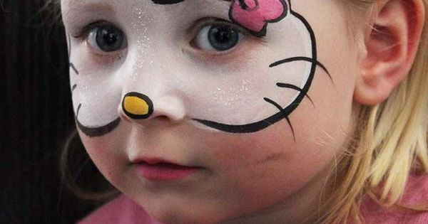Hello Kitty Face Painting. Cool Face Painting Ideas For Kids, which transform