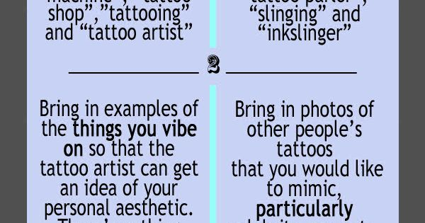 Tattoo etiquette tattoo shop do 39 s dont 39 s tattoos for Tattoo shop etiquette