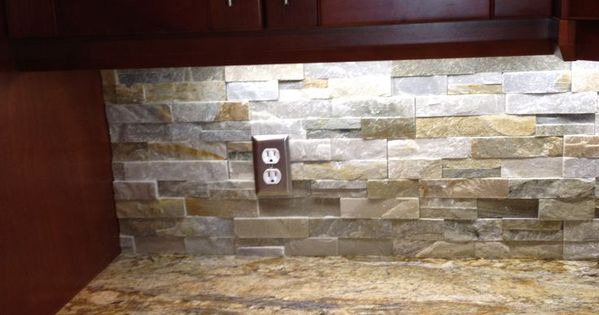 River Bordeaux Granite With Golden Honey Stacked Stone