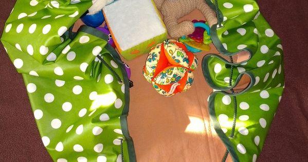 tapis de jeu nomade sac jouets tutoriel cousez pinterest. Black Bedroom Furniture Sets. Home Design Ideas