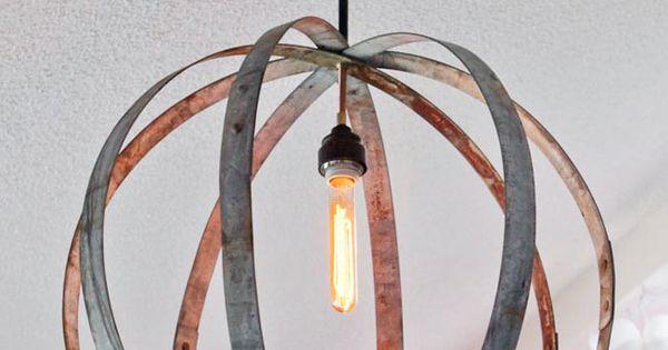 20 diy chandeliers to brighten up your space wine barrel