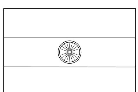 Indian Flag Coloring Page: India Flag Coloring Page C1 W8