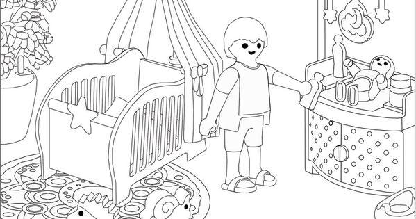 Ausmalbilder playmobil kinderzimmer ausmalbilder pinterest for Kinderzimmer playmobil