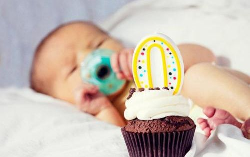 Great shot for every birthday. Take a zero candle and cupcake into