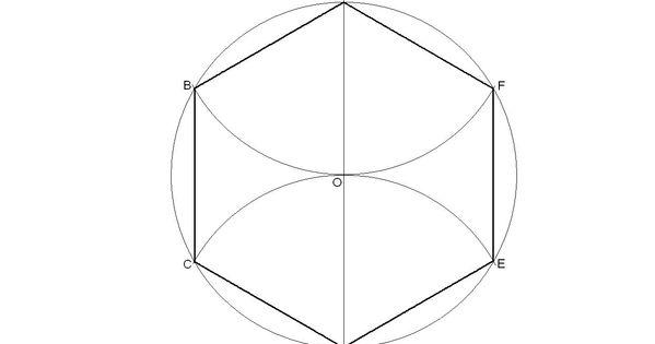 Hexágono Regular Inscrito En Una Circunferencia Hexagono Tapete De Retalho Geometria