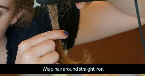 Yesss I've always done this wrong, straight iron curls