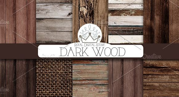 DARK WOOD digital paper – with wood background, wood texture, rustic wood, wood scrapbook paper and burlap, wood printable, scrapbook wood digital, distressed wood
