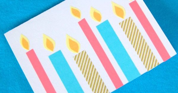 fun washi tape birthday cards!