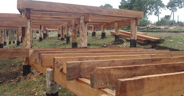Google Images Wood Cabin : Construccion con pilotes de madera buscar google