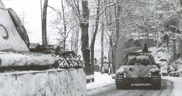 column 39 panther 39 pz kpfv v panther 21st panzer division on the march along the road in the. Black Bedroom Furniture Sets. Home Design Ideas