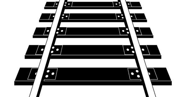Railroad Track Rail Free Photo Train Track Clipart Black And White Hd Png Download Railroad Crossing Sign Png Train Clipart Clip Art Train Icon