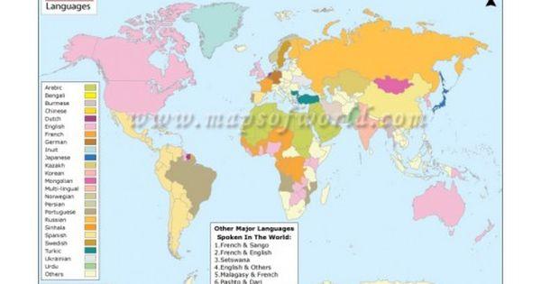 World Language Map Language Map World Languages Map